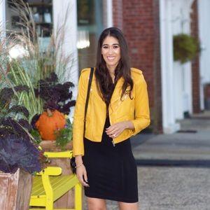 Yellow Zara Faux Leather Jacket